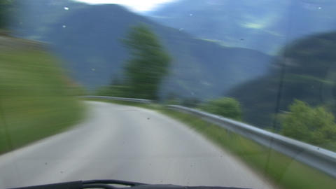 time lapse highspeed downhill drive alps Stock Video Footage