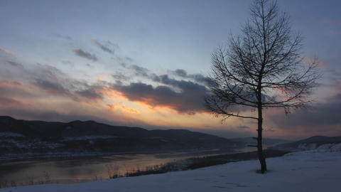 Winter landscape.1 Stock Video Footage