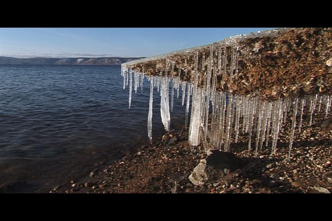 Water and ice 1 Stock Video Footage