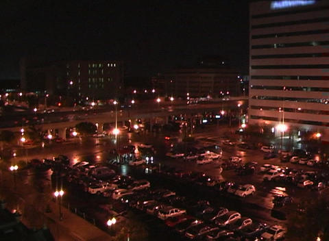 City at Night, Time Lapse (2) Stock Video Footage