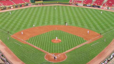 Baseball Stadium Home Run 02 Stock Video Footage