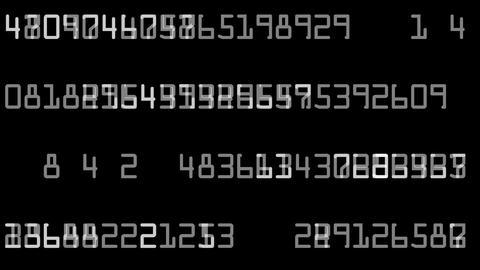 Flashing digital numbers Stock Video Footage