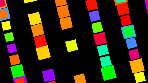 Flashing colour boxes Stock Video Footage