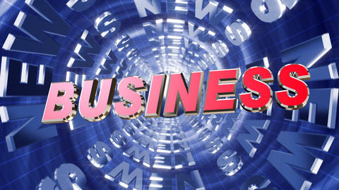 Series News opener - business Stock Video Footage