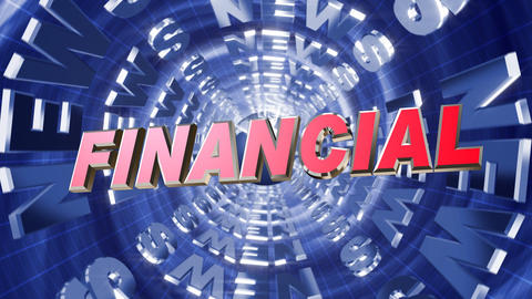 Series News opener - financial Stock Video Footage