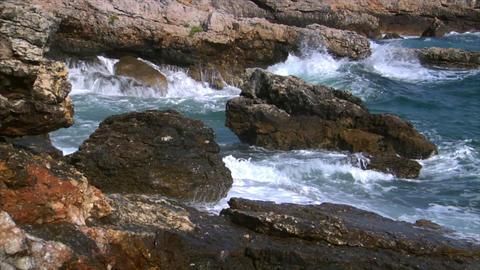 big splash on rock audio Stock Video Footage