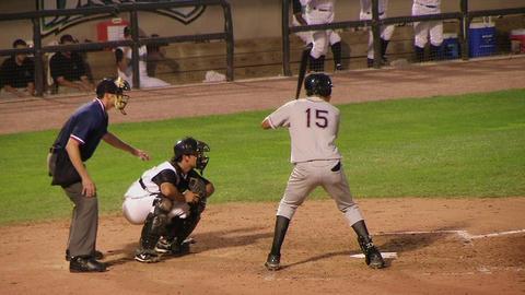 Left-Handed Baseball Hitter Stock Video Footage
