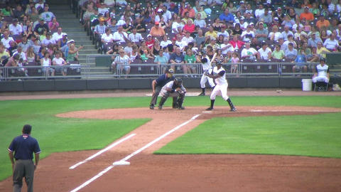 Baseball Out At First Base 03 Stock Video Footage