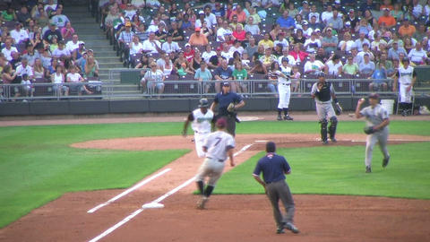 Baseball Out At First Base 03 Footage
