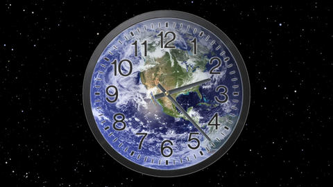 Earth Clock Time Lapse Animation