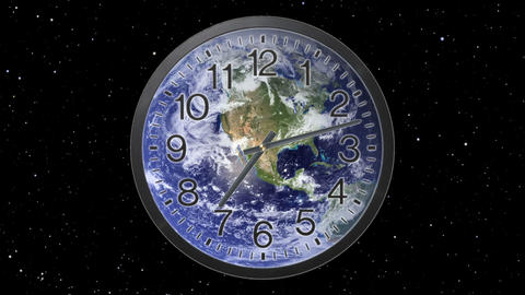 Earth Clock Time Lapse Stock Video Footage