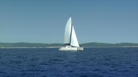 catamaran boat to boat Footage