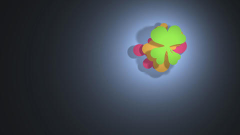 Colorful flower cloud 1 Stock Video Footage