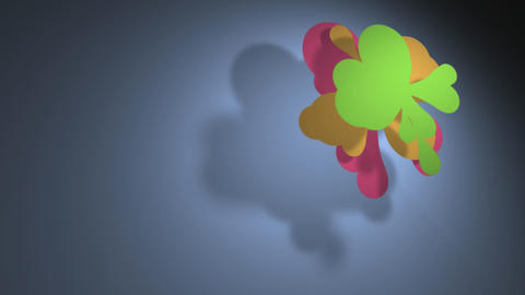 Colorful flower cloud 1 CG動画素材