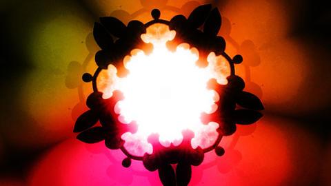 ornate kaleidoscope Stock Video Footage