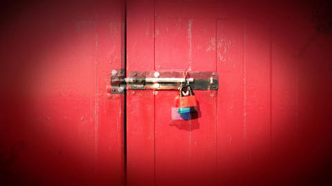 Multy coloured doors and locks Stock Video Footage