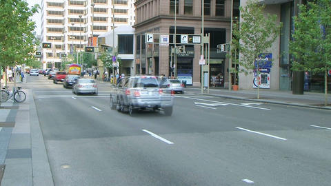 Downtown Traffic Time Lapse Stock Video Footage