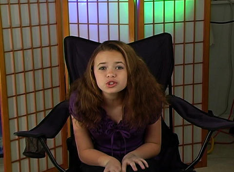 Beautiful Young Spoiled Brat (1) Stock Video Footage