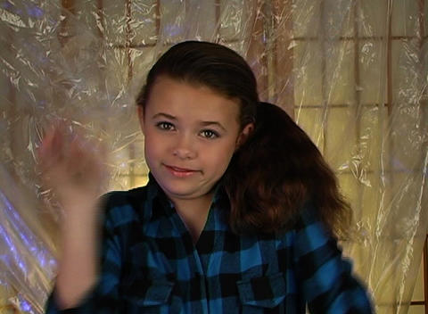 Beautiful Adolescent Girl Shrugs Her Shoulders Stock Video Footage
