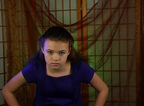 Beautiful Adolescent Girl, Angry and Irritated Stock Video Footage