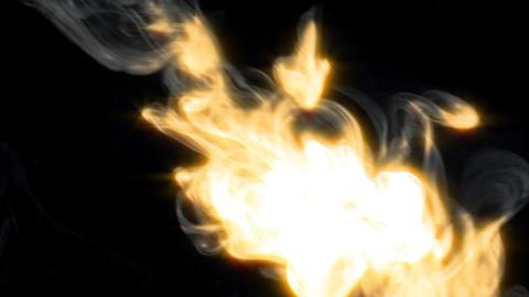 smoky fire stream Stock Video Footage