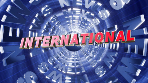 Series News Opener - International stock footage