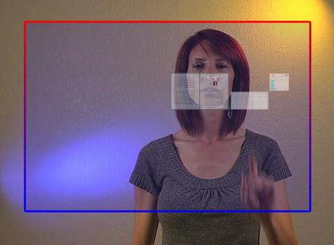 Beautiful Redhead Businesswoman with Futuristic Vi Stock Video Footage