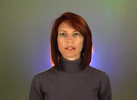 """Beautiful Redhead Shakes her Head """"Yes"""" (1) Stock Video Footage"""