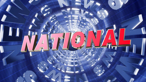 Series News opener - national Stock Video Footage