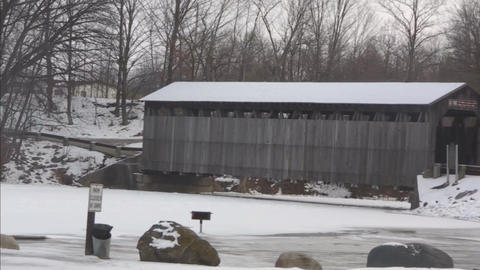 Covered bridge4 Stock Video Footage
