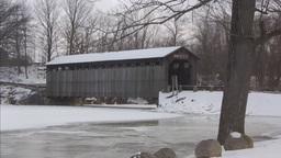 Covered bridge6 Stock Video Footage
