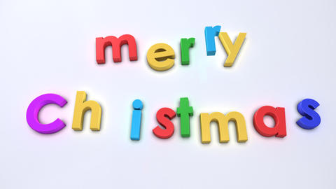 merry christmas magnetic Stock Video Footage
