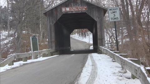 Covered bridgeB Stock Video Footage