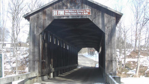 Covered bridge with Vehicle Footage