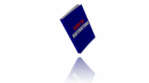 Animated Book Of Motivation Stock Video Footage