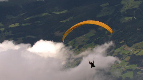 paraglider start 02 Stock Video Footage