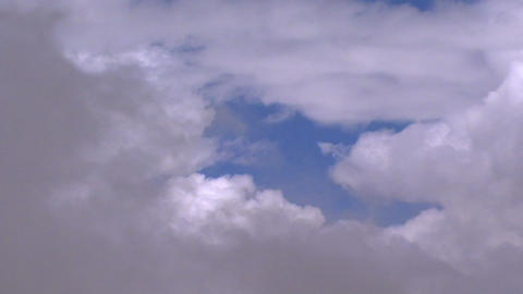fly through clouds quick Stock Video Footage