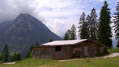 TL sequestered cottage austria Stock Video Footage