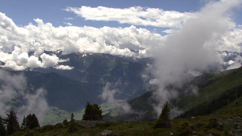 time lapse clouds over high mountain Stock Video Footage