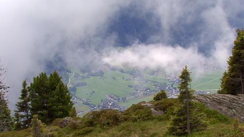 time lapse clouds over austrian valley Footage
