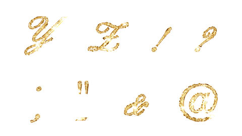 Alphabet Twinkle Gold B1 HD Stock Video Footage