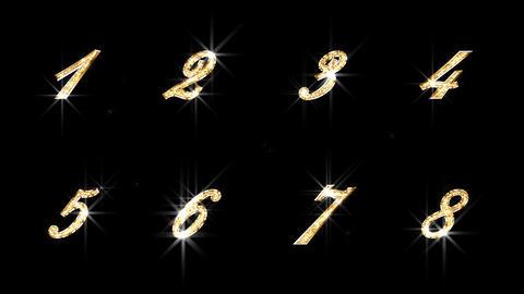 Alphabet Twinkle Gold B3 HD Stock Video Footage