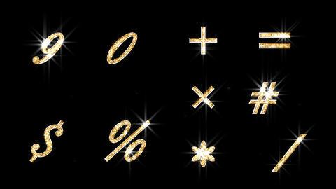 Alphabet Twinkle Gold B3 HD Animation