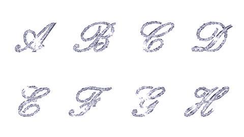 Alphabet Twinkle Silver B1 HD Stock Video Footage