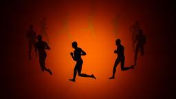People Running Around Animation