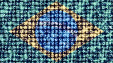 Spangle Flag Brazil Animation