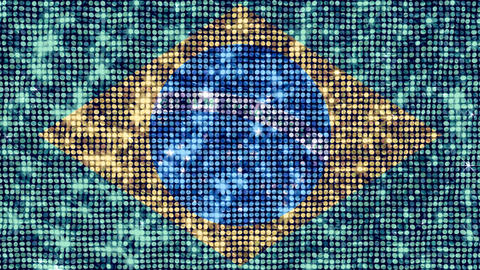 Spangle Flag Brazil Stock Video Footage