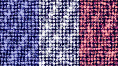 Spangle Flag France Stock Video Footage