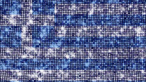 Spangle Flag Greece Stock Video Footage