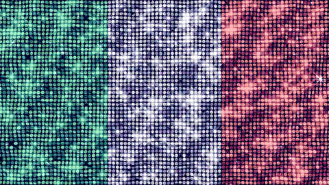 Spangle Flag Italy Animation